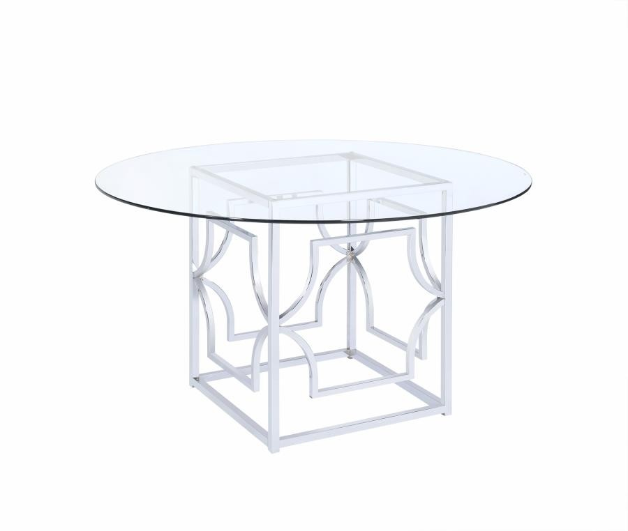 Excellent Modern Chrome Dining Table Base Home Interior And Landscaping Ponolsignezvosmurscom