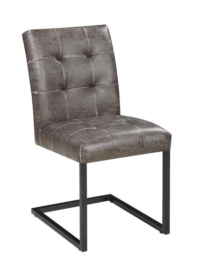 Industrial Dark Brown Dining Side Chair (Pack of 2)
