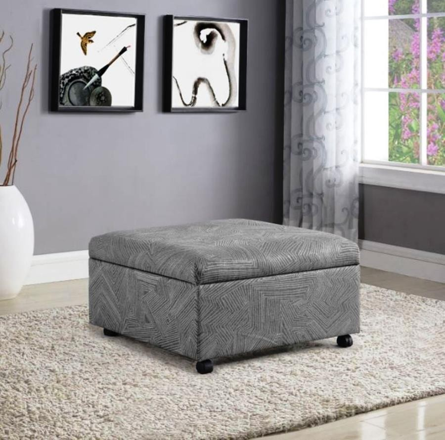 Amazing Jacquard Grey Lift Top Storage Ottoman Machost Co Dining Chair Design Ideas Machostcouk