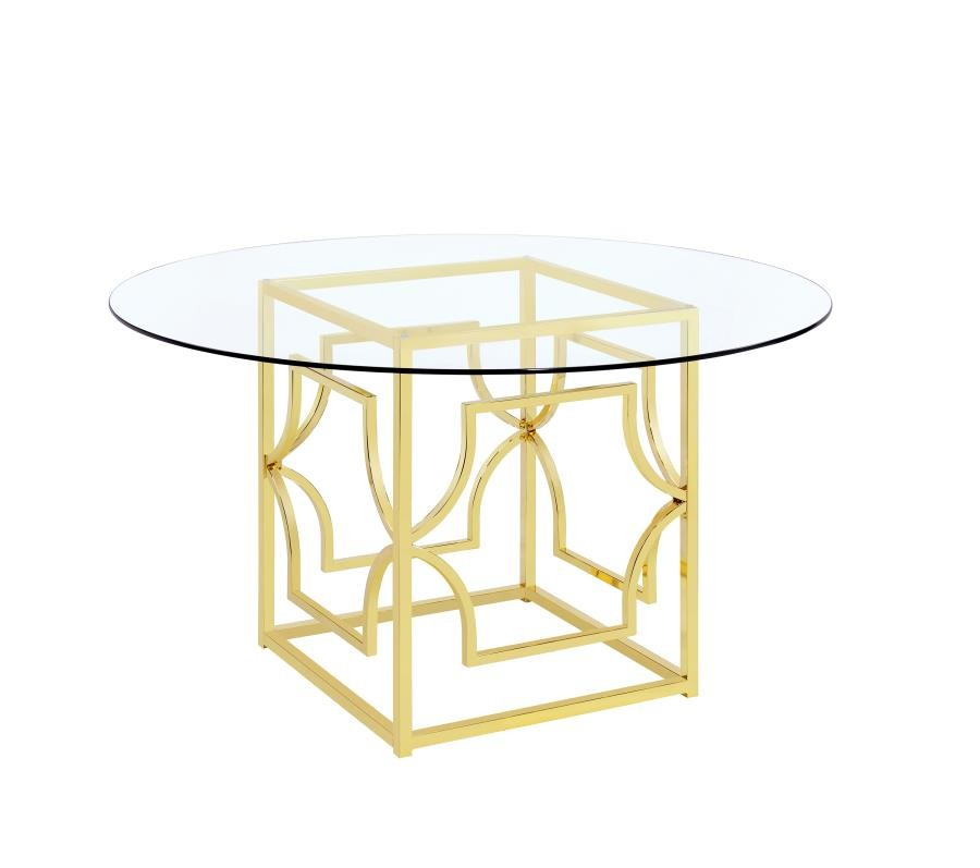 Awesome Modern Gold Dining Table Base Home Interior And Landscaping Ponolsignezvosmurscom