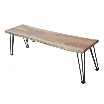 Industrial Natural Acacia Dining Bench