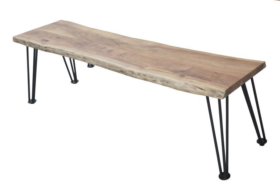 Industrial Natural Acacia Dining Bench