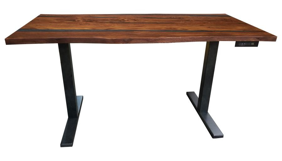 Home Office Desks Industrial Antique Nutmeg Writing Desk