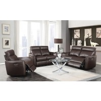 SCRANTON MOTION COLLECTION - Scranton Casual Dark Brown Power^2 Loveseat