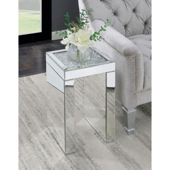 Contemporary Mirrored Side Table