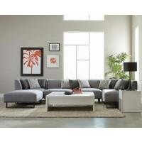Corrine Modern Grey Armless Chair