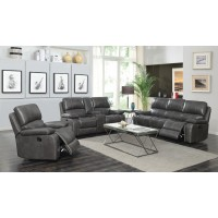 RAVENNA MOTION COLLECTION - Ravenna Casual Charcoal Motion Sofa