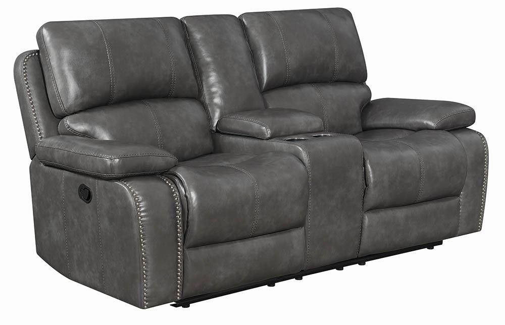 RAVENNA MOTION COLLECTION - Ravenna Casual Charcoal Motion Loveseat