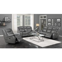CONRAD MOTION COLLECTION - Conrad Transitional Grey Power Sofa
