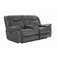 CONRAD MOTION COLLECTION - Conrad Transitional Grey Power Loveseat