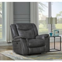 CONRAD MOTION COLLECTION - Conrad Transitional Grey Power Recliner