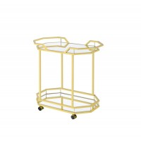 REC ROOM: SERVING CARTS - Traditional Brass Serving Cart