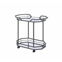REC ROOM: SERVING CARTS - Traditional Black Nickel Serving Cart
