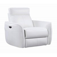 CECELIA MOTION COLLECTION - Cecelia Casual White Power Glider Recliner with Power Headrest