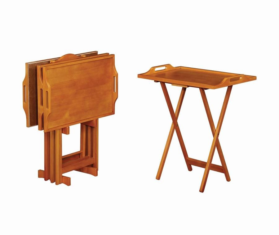 Casual Golden Brown Tray Table