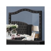 DEANNA BEDROOM COLLECTION - Deanna Contemporary Black and Metallic Mirror