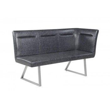 Excellent Contemporary Grey Left Side Facing Corner Bench Theyellowbook Wood Chair Design Ideas Theyellowbookinfo