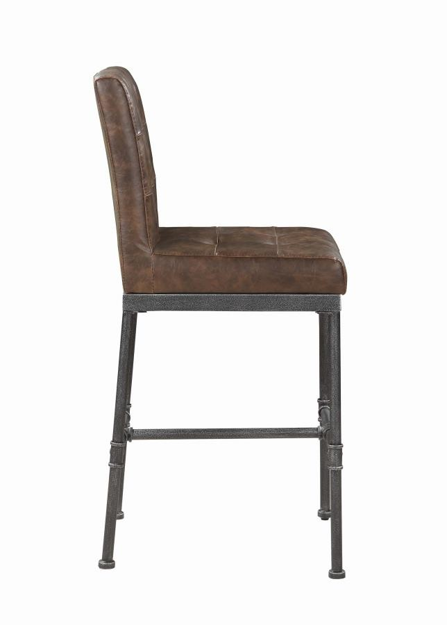 scott living antique brown bar stool pack of 2 182739 bar