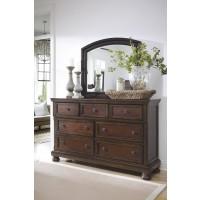 Porter - Rustic Brown - Bedroom Mirror