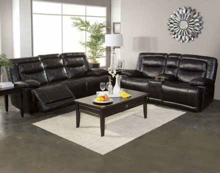 Torino Collection Reclining Sofa & Console Loveseat Set