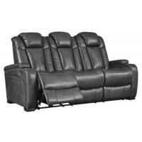 Turbulance - Quarry - PWR REC Sofa with ADJ Headrest