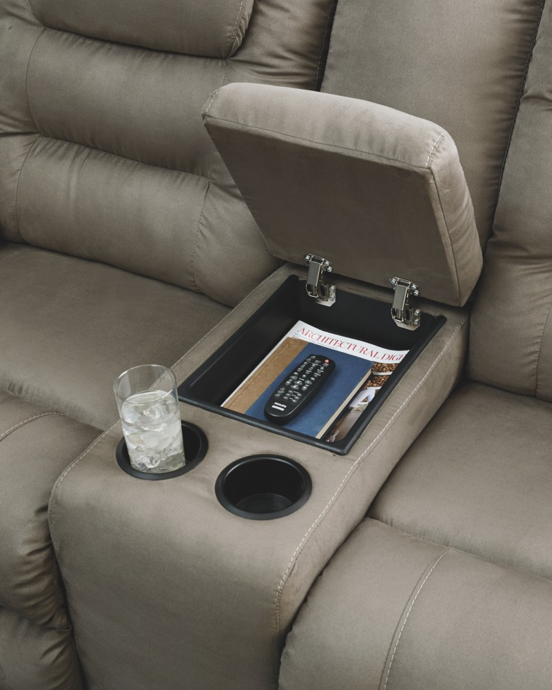 Young House Love Sofa Console: McCade Reclining Loveseat With Console
