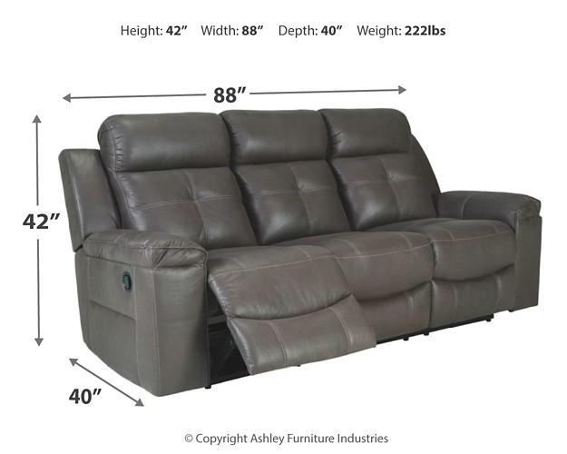 Phenomenal Jesolo Dark Gray Reclining Sofa Ncnpc Chair Design For Home Ncnpcorg