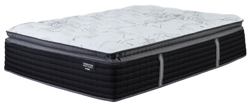 Manhattan Design Plush PT - White - King Mattress