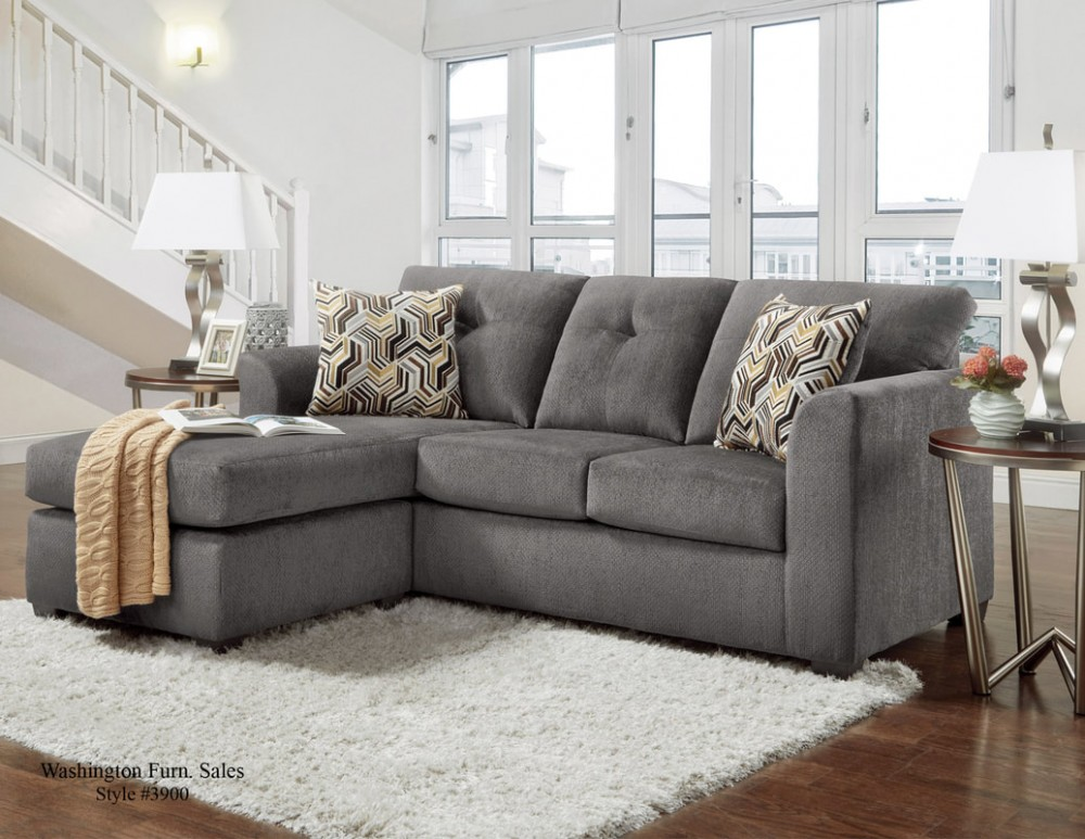 Kelly Gray Sofa Chaise 3903 119 Sectionals Gr8 Furniture And