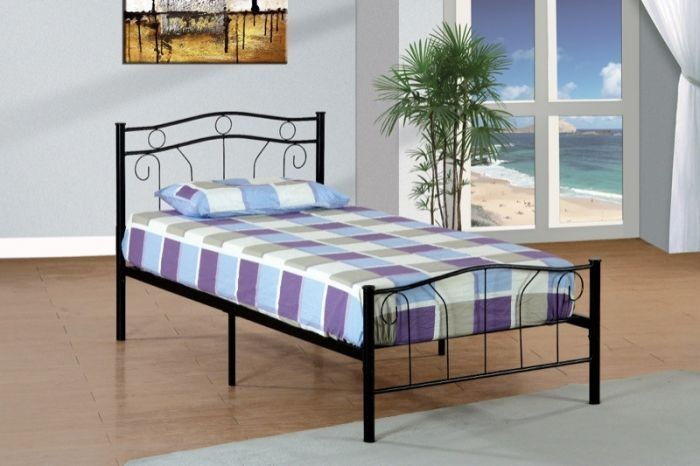 Twin Black Metal Bed Mpd 1186sbk Metal Beds Gr8 Furniture And
