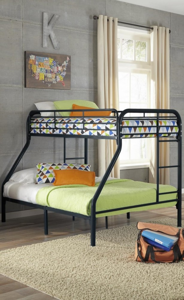 Black Twin Full Metal Bunkbed 115 Tf Bunk Beds Gr8 Furniture