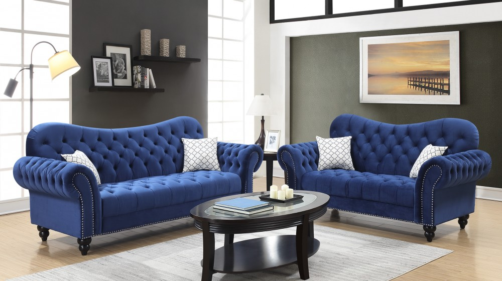 Merveilleux Heart Blue Sofa U0026 Love | U134   Blue | Living Room Sets | Price Busters  Furniture