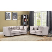 JoJo Light Gray  Sofa & Love Group