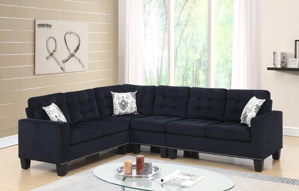 Joni Sectional U135 Sectional Black Sectional Sofas