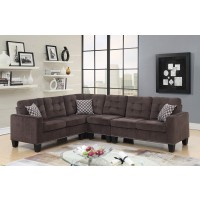 Joni Sectional Chocolate