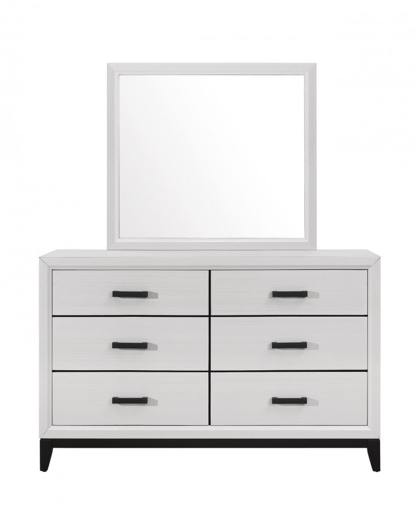 Kate White Dresser Mirror Queen Bed Kate Wh Bedroom Sets Price