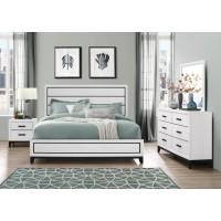 Kate White Dresser Mirror Queen Bed