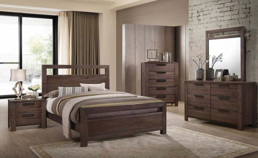 Caila 5 Piece California King Bedroom Set Rustic Ale 206291kw S5