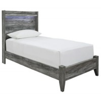 Baystorm - Gray - Twin Panel Footboard w/Rails