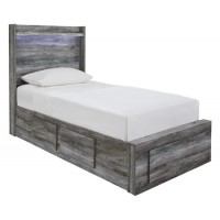 Baystorm - Gray - Twin Storage Footboard