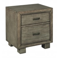 Arnett - Gray - Two Drawer Night Stand