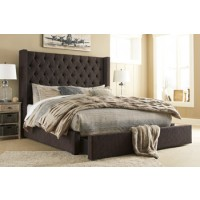 Norrister Queen Upholstered Storage Footboard with Roll Slats
