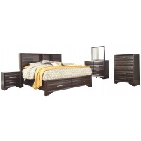 Andriel - Dark Brown - Two Drawer Night Stand