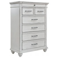 Kanwyn - Chipped White - Five Drawer Chest
