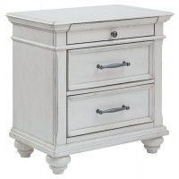 Kanwyn - Chipped White - Three Drawer Night Stand