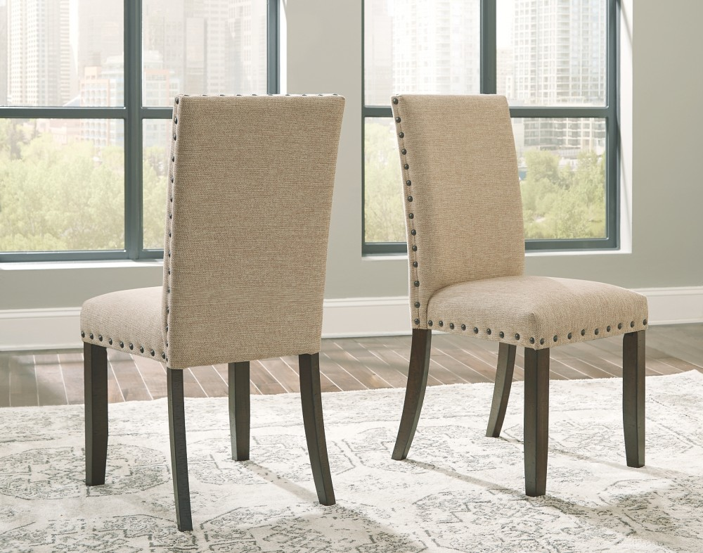 Dining Room Side Chairs Elegant Seating: Rokane - Brown - Dining UPH Side Chair (2/CN)