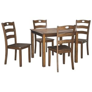 Hazelteen - Medium Brown - Square DRM Table Set (5/CN)