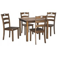 Hazelteen - Medium Brown - Square DRM Table Set (5/CN)