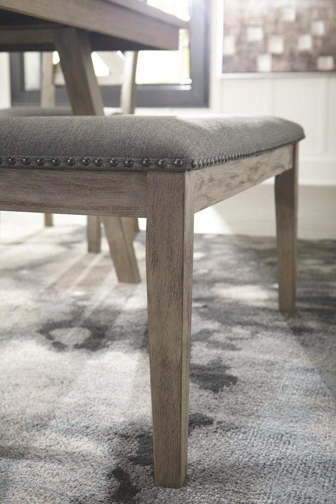 Stupendous Aldwin Dark Gray Upholstered Bench Pdpeps Interior Chair Design Pdpepsorg