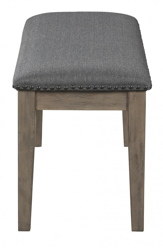 Enjoyable Aldwin Dark Gray Upholstered Bench Pdpeps Interior Chair Design Pdpepsorg